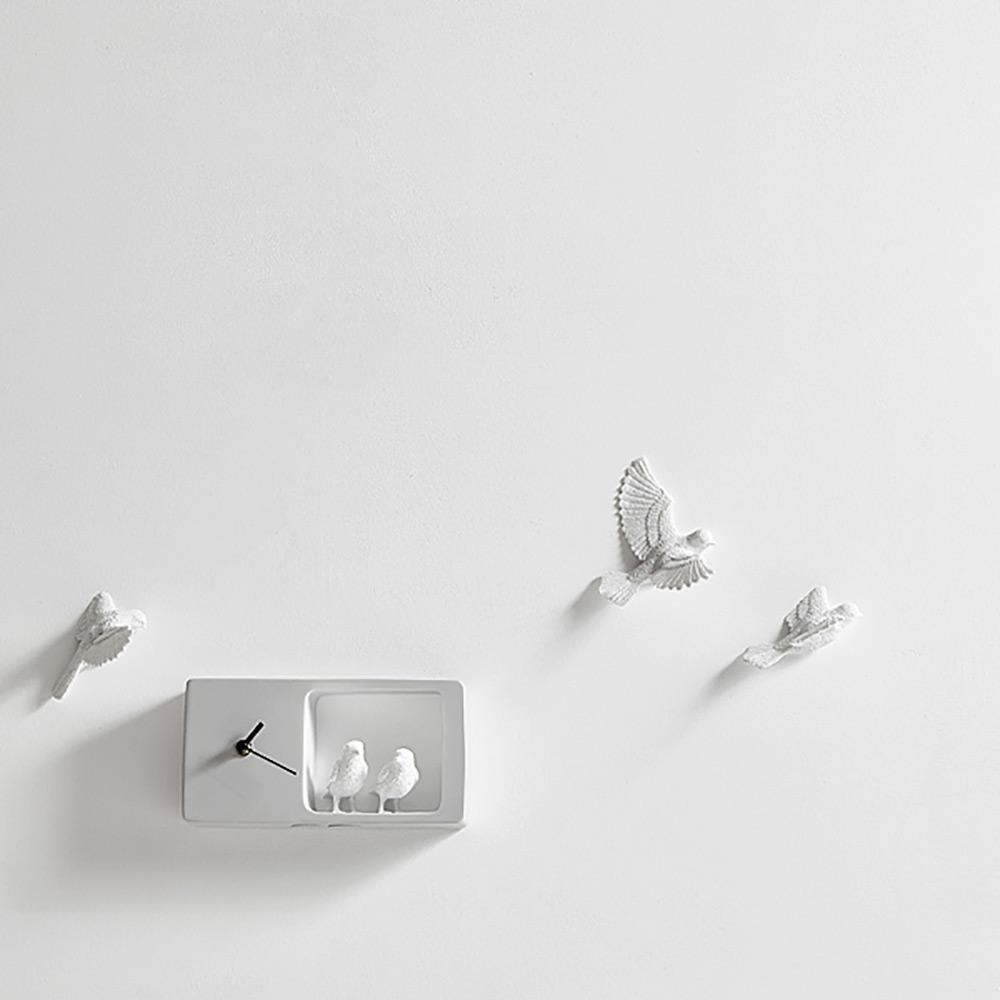 haoshi 良事設計|麻雀時鐘 (灰色版)