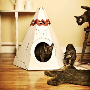 Suck UK|TEEPEE CAT PLAY HOUSE 帳篷造型貓咪屋