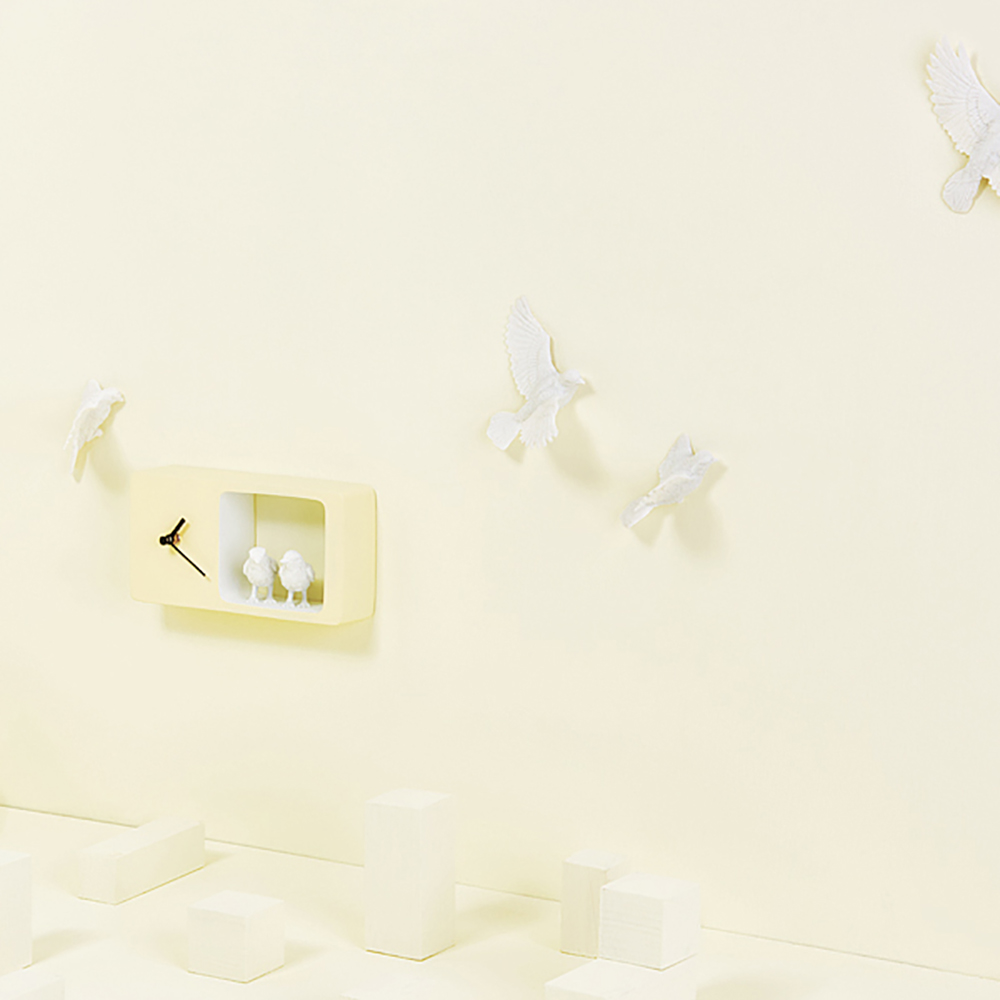 haoshi 良事設計|麻雀時鐘(黃色版)