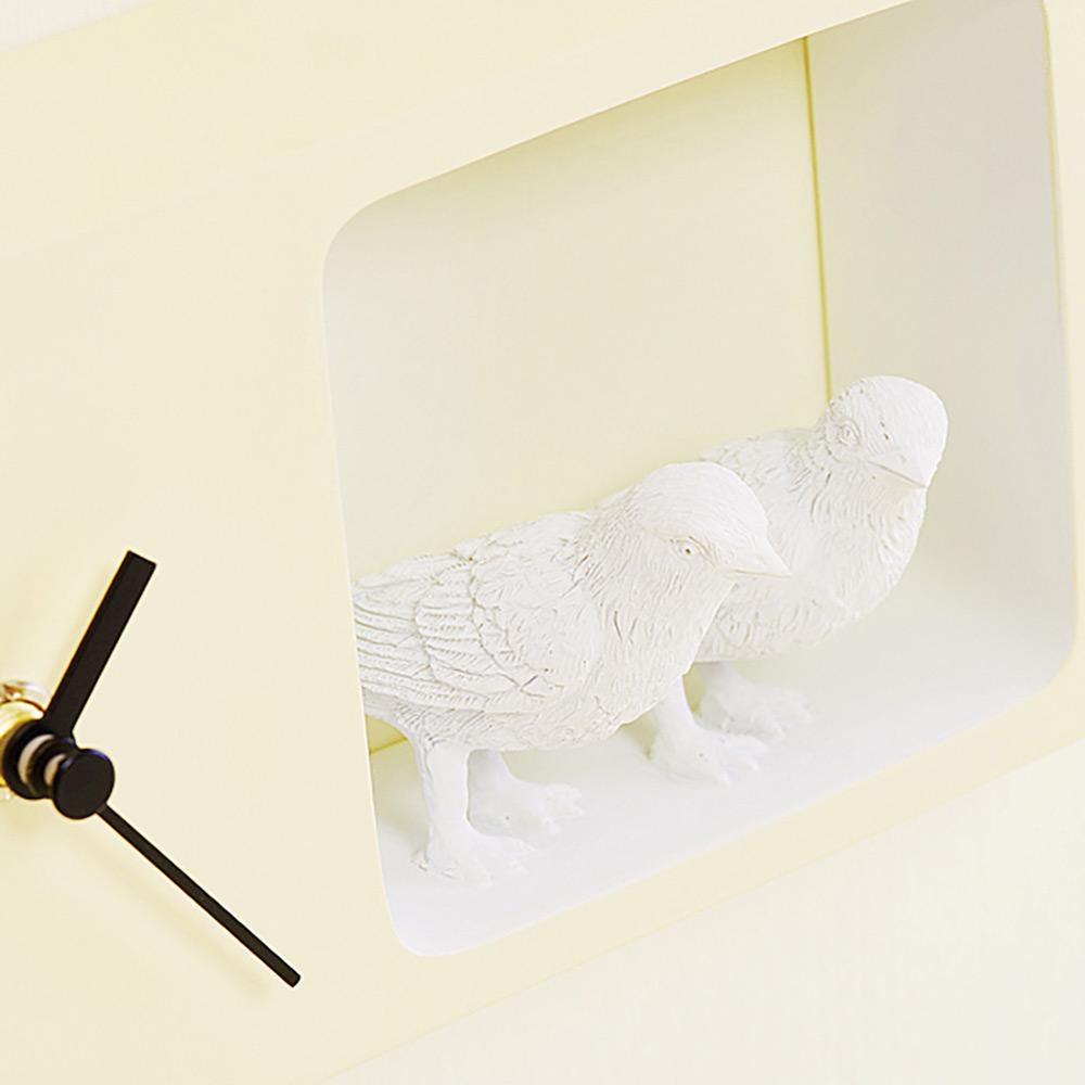 haoshi 良事設計 麻雀時鐘(黃色版)