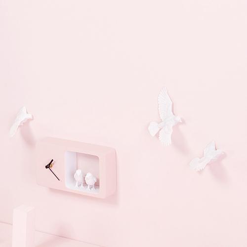 haoshi 良事設計|麻雀時鐘(粉紅色版)
