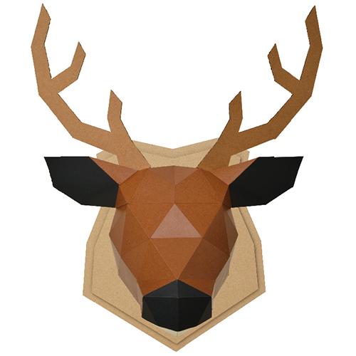 bog craft|立體動物紙藝  鹿/Wall L-size