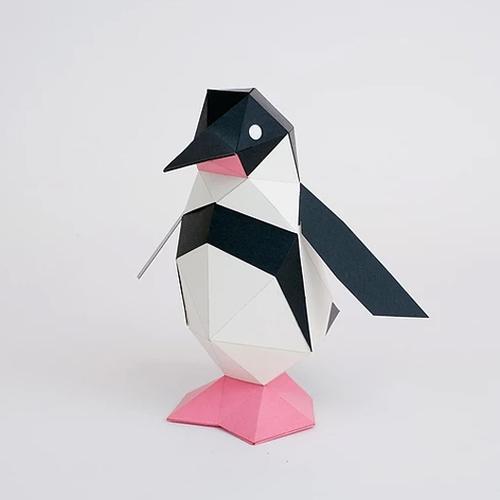 bog craft|立體動物紙藝  企鵝/TINY