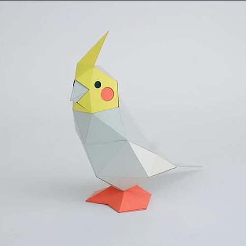 bog craft|立體動物紙藝  鸚鵡/TINY