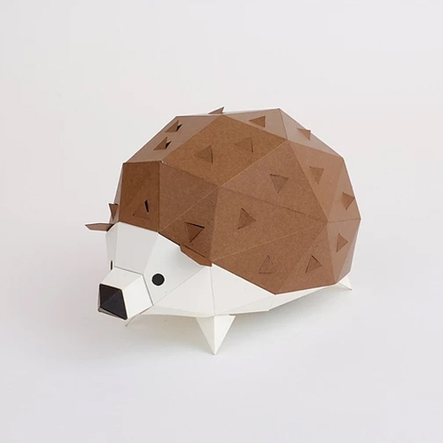 bog craft|立體動物紙藝  刺蝟/TINY