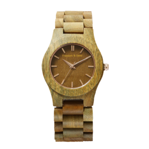Freedom&Seed 日本木頭腕錶|藝系列 40mm─Verawood 綠檀木款