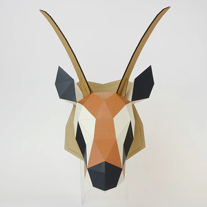 bog craft 立體動物紙藝 瞪羚/Wall L-size