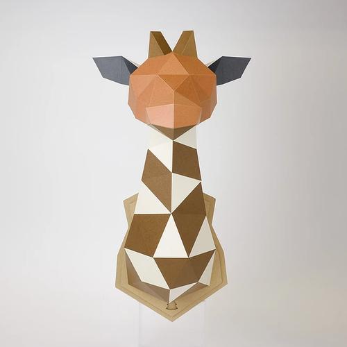 bog craft|立體動物紙藝  長頸鹿/Wall L-size