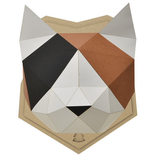bog craft|立體動物紙藝  貓咪/Wall L-size