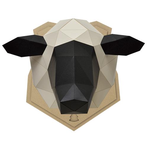 bog craft|立體動物紙藝  綿羊/Wall M-size