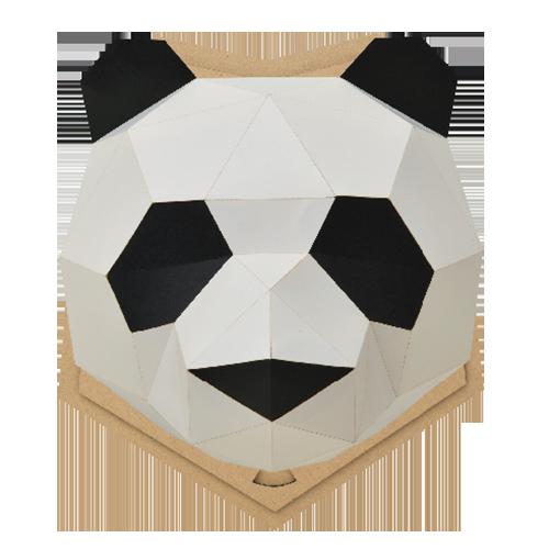 bog craft|立體動物紙藝  貓熊/Wall M-size