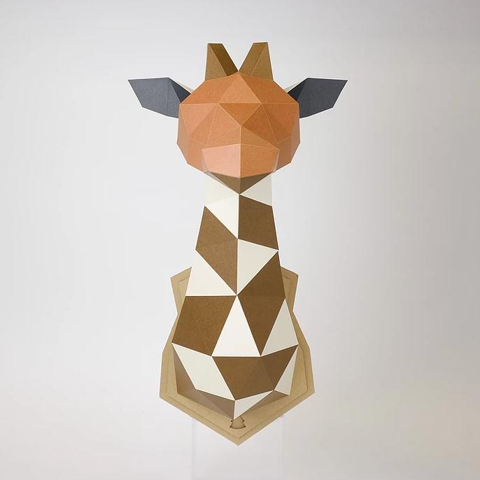 (複製)bog craft|立體動物紙藝  瞪羚/Wall L-size