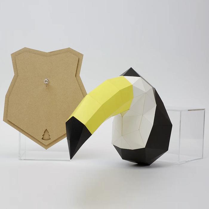 (複製)bog craft|立體動物紙藝  綿羊/Wall L-size