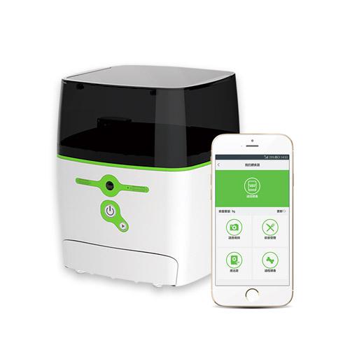 QB Tech|Feed Me 飛米智慧寵物互動餵食器(綠色)