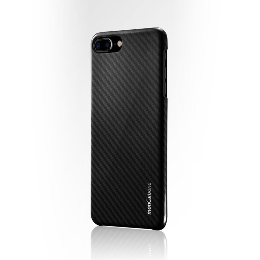 monCarbone|HOVERKOAT 克維拉防彈纖維保護殼 for iPhone 7 (午夜黑)
