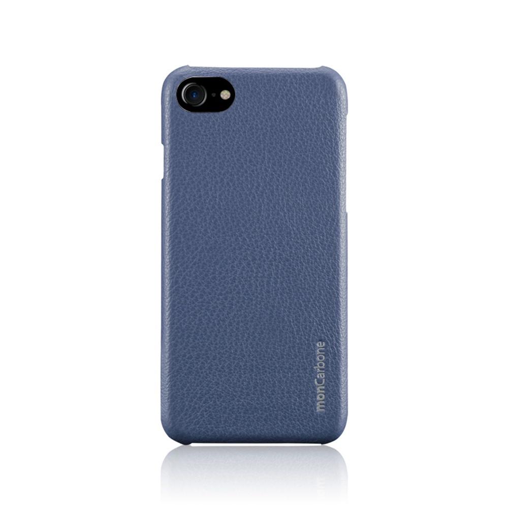 monCarbone|克維拉防彈纖維結合 Napa 皮革保護殼 for iPhone 7 (藍)