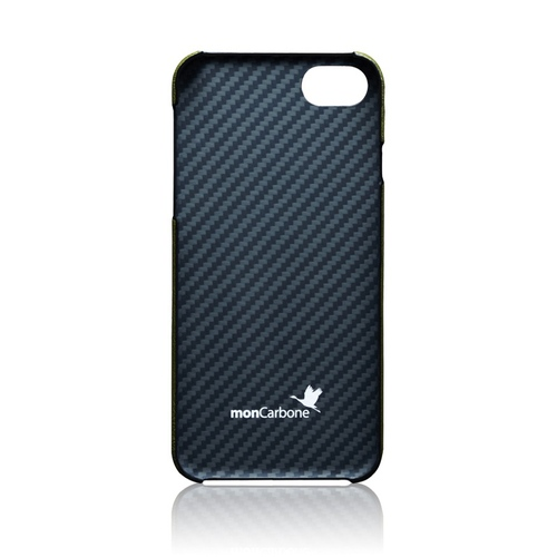 monCarbone|克維拉防彈纖維結合 Napa 皮革保護殼 for iPhone 7 (綠)