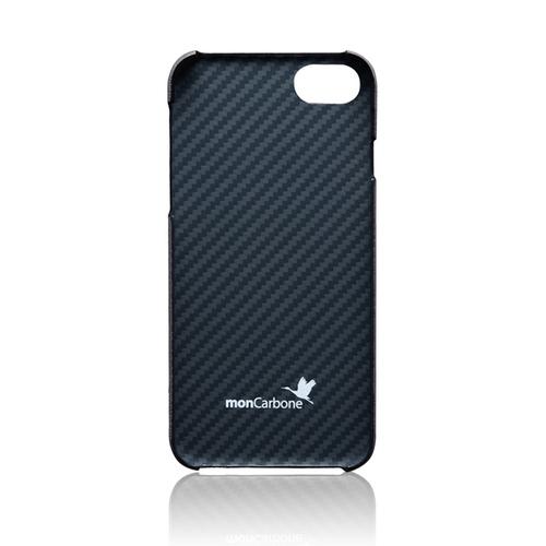 monCarbone|克維拉防彈纖維結合 Napa 皮革保護殼 for iPhone 7 (紫灰)