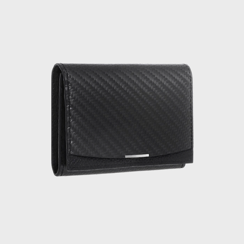 monCarbone BlackLabel 碳纖維折疊式名片夾