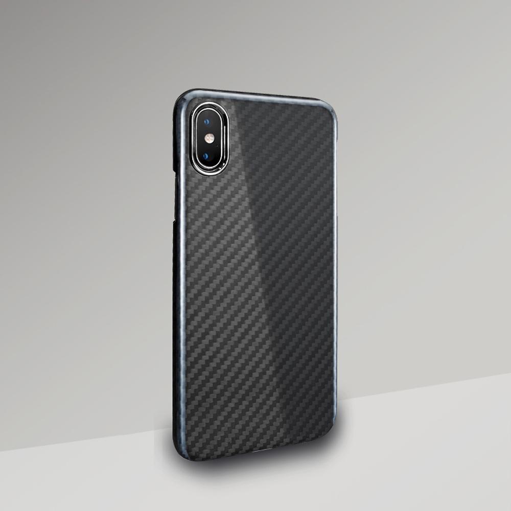 monCarbone|經典款防彈纖維保護殼 iPhone Xs / Xs Max 午夜黑