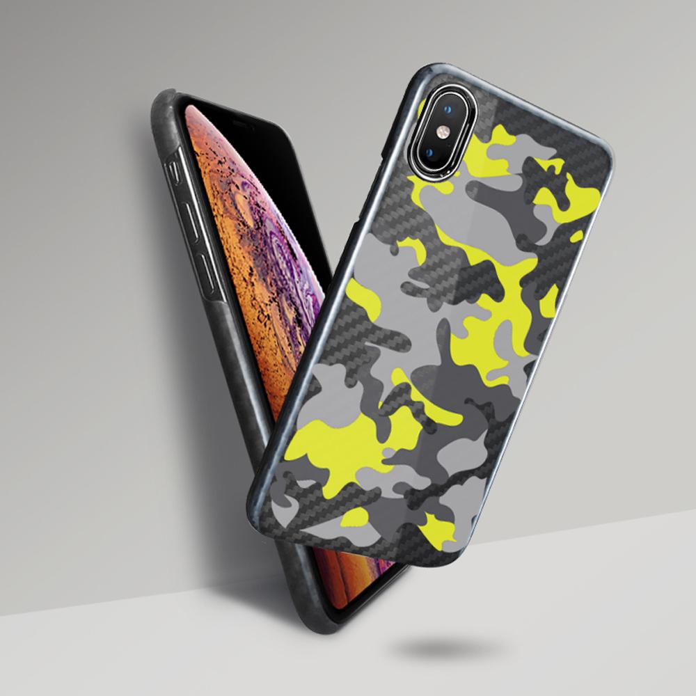 monCarbone|CAMO 防彈纖維保護殼 iPhone Xs / Xs Max – 戰鬥迷彩