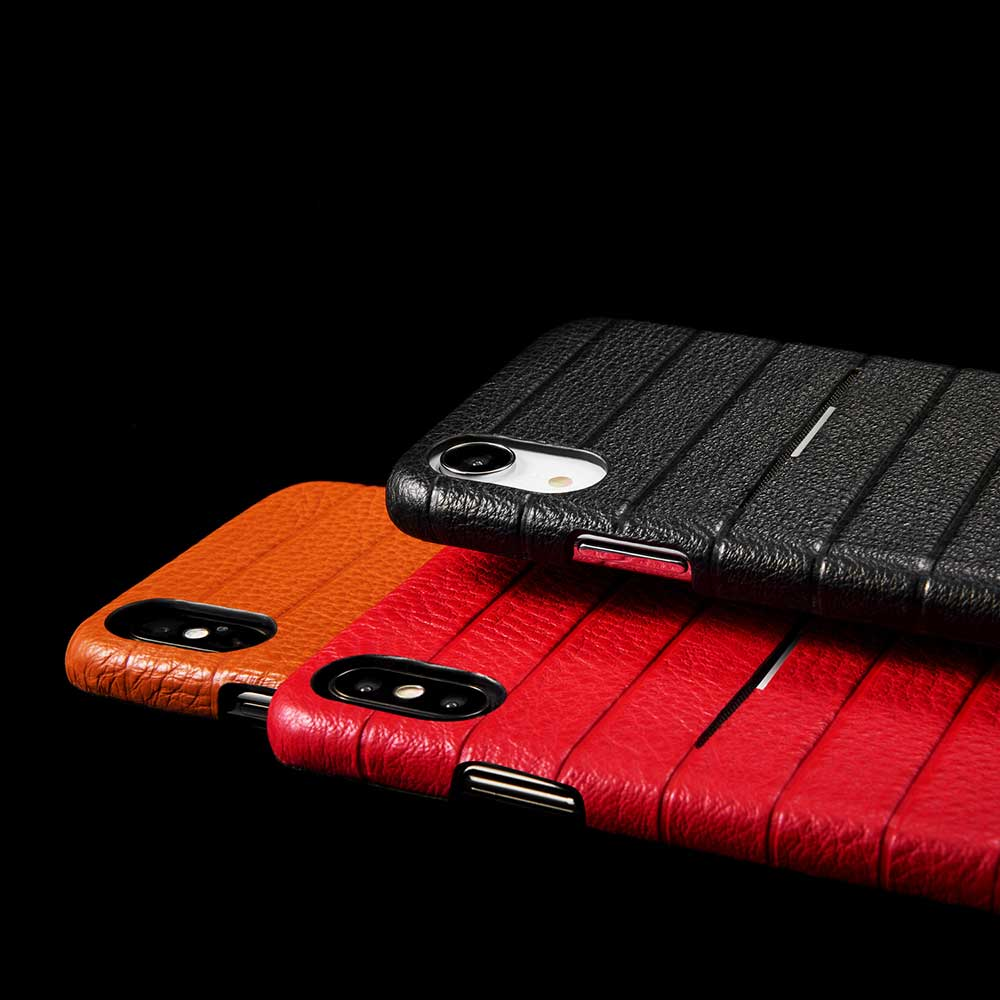 monCarbone|HOVERSKIN 皮革口袋保護殼 iPhone XR 紅