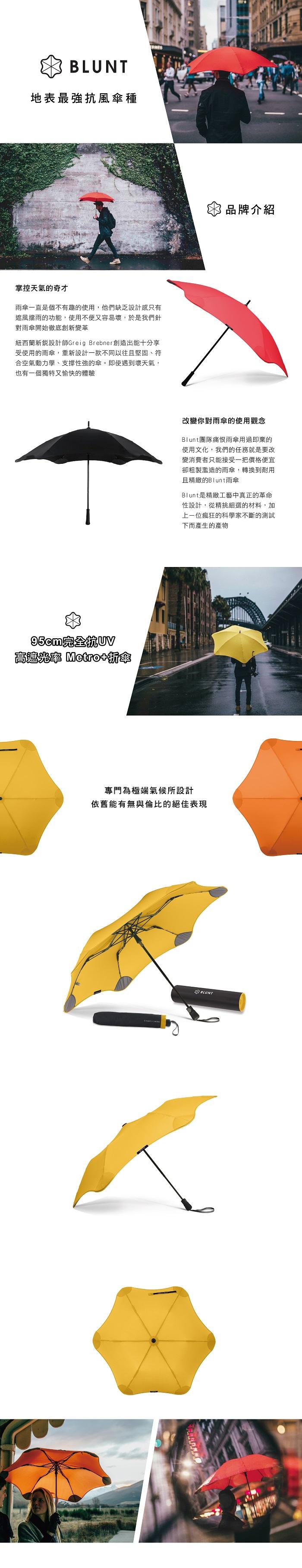 (複製)紐西蘭Blunt 保蘭特 | 95cm完全抗UV 高遮光率 Metro+ 折傘 (艷桃紅)
