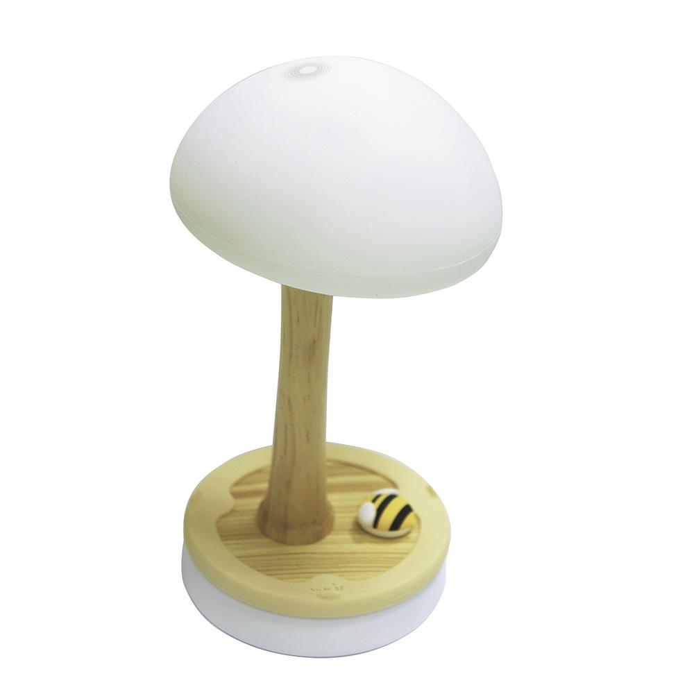 Vacii | 觸控蘑菇燈 (2埠USB充電座)