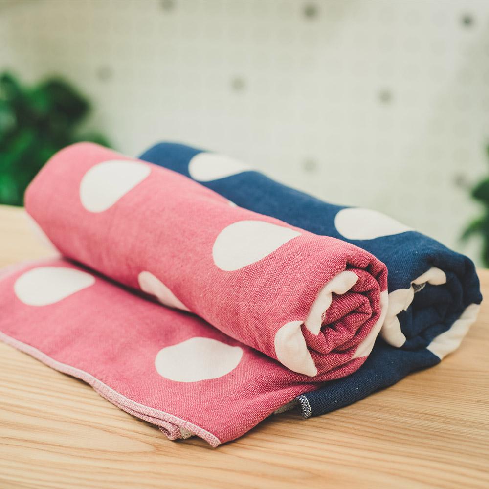 今治織上 | 日本今治毛巾 今治認證 吉井 雙色點點學生水玉 (臉巾)