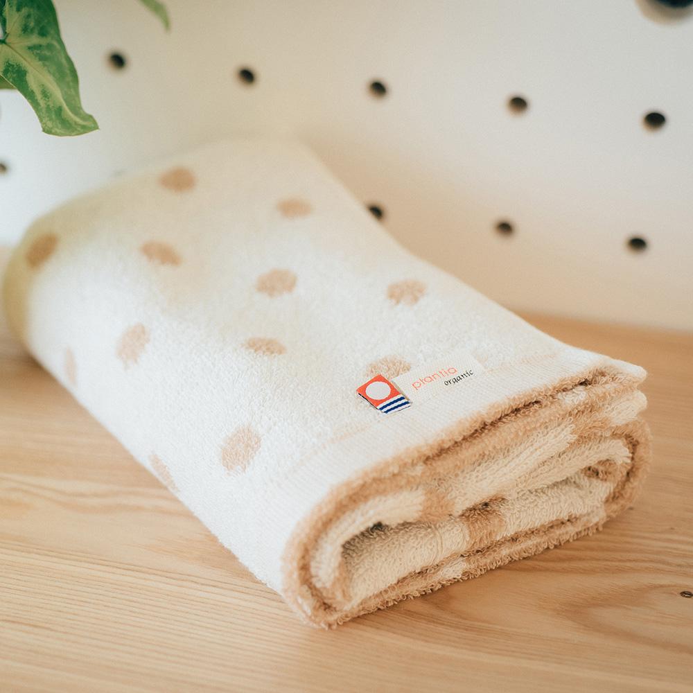 今治織上|日本今治毛巾 今治認證 壺內 Organic水玉系列 (浴巾)
