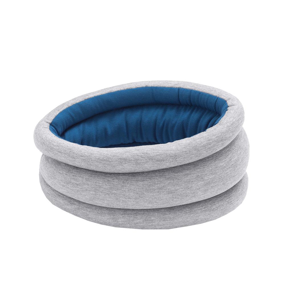 Ostrich Pillow Light 鴕鳥枕 雙色 雙面配戴 圍脖款(藍色)