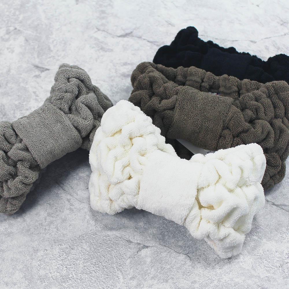 今治織上 │ 日本今治認證 絨質毛巾髮帶 (白色)