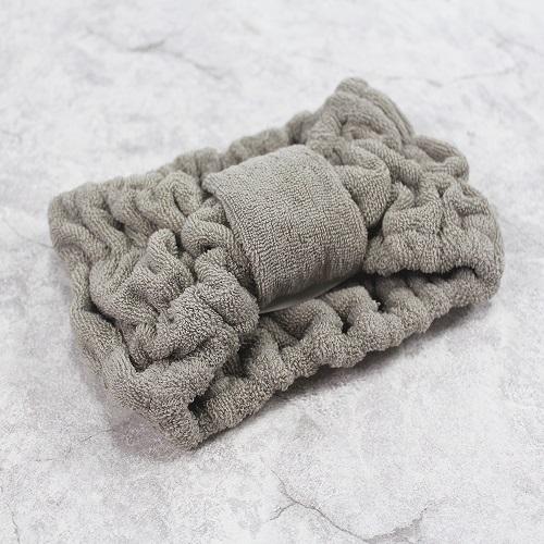 今治織上 │ 日本今治認證 絨質毛巾髮帶 (灰色)