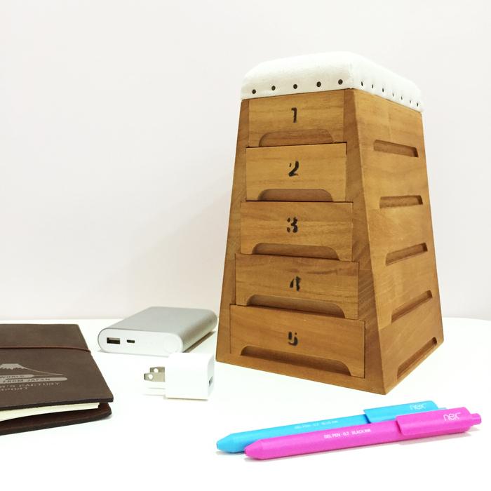 (複製)日本豊田産業 | 跳箱造型木製迷你收納盒-Timon抽屜3層