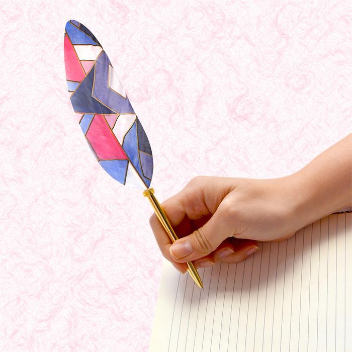 (複製)日本Quill Pen | 羽毛原子筆Shell貝殼紋系列 羽毛筆 原子筆