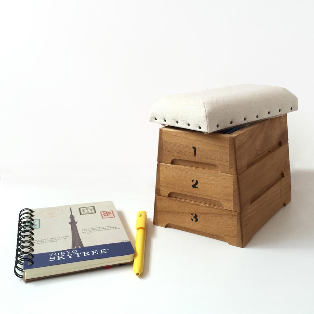 日本豊田産業 | 跳箱造型木製迷你收納盒-Punva堆疊3層