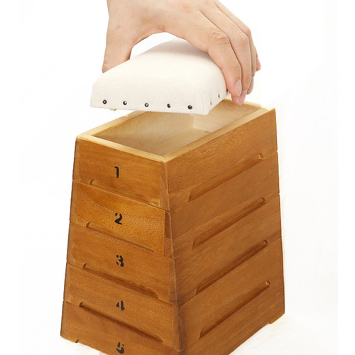 日本豊田産業 | 跳箱造型木製迷你收納盒-Rafiki堆疊5層