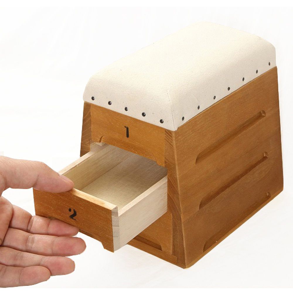 日本豊田産業 | 跳箱造型木製迷你收納盒-Timon抽屜3層