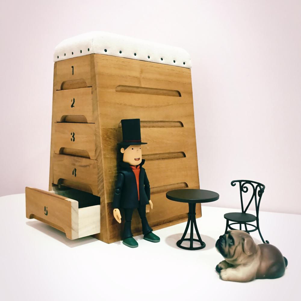 日本豊田産業 | 跳箱造型木製迷你收納盒-Zazou抽屜5層
