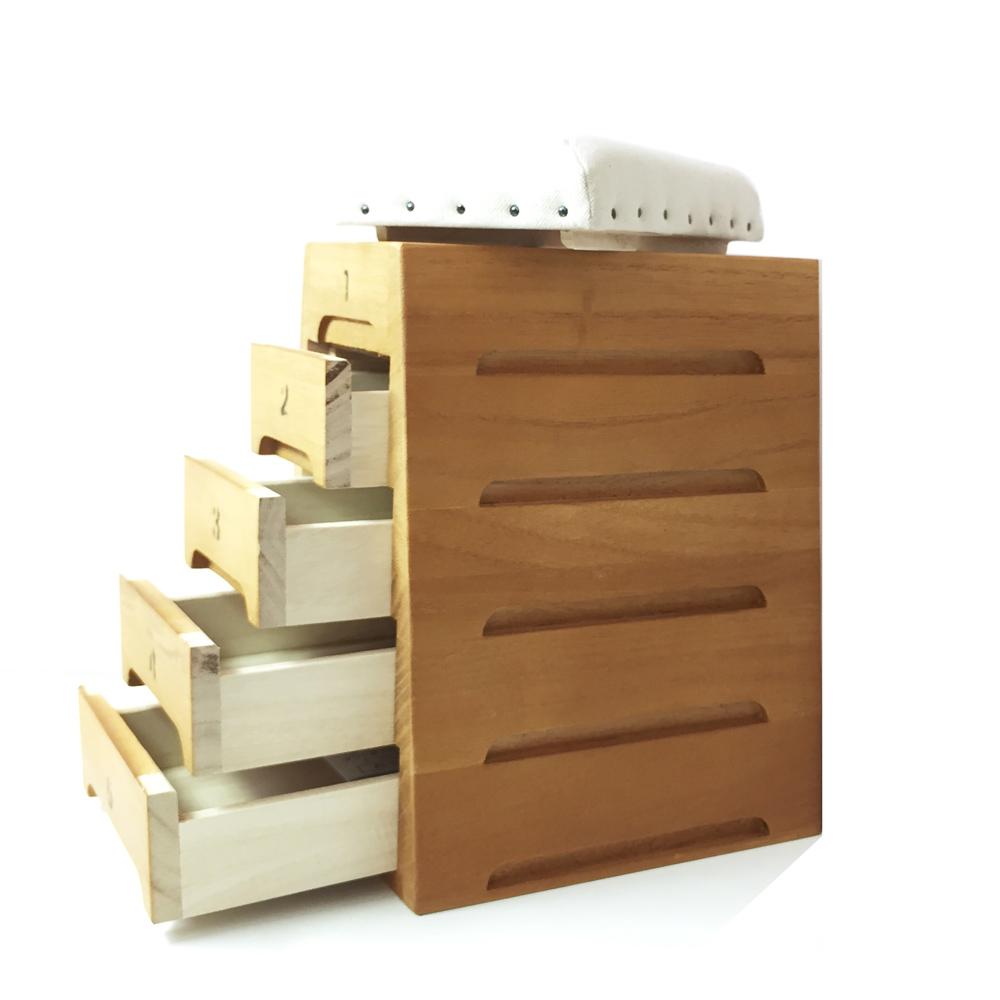 日本豊田産業 跳箱造型木製迷你收納盒-Zazou抽屜5層