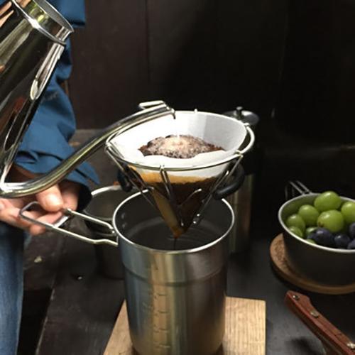 日本IFNi | Mt.FUJI DRIPPER富士山造型不鏽鋼手沖咖啡濾杯-中