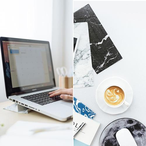 日本FODI | 攜帶式可折疊平板手機座-白色大理石紋