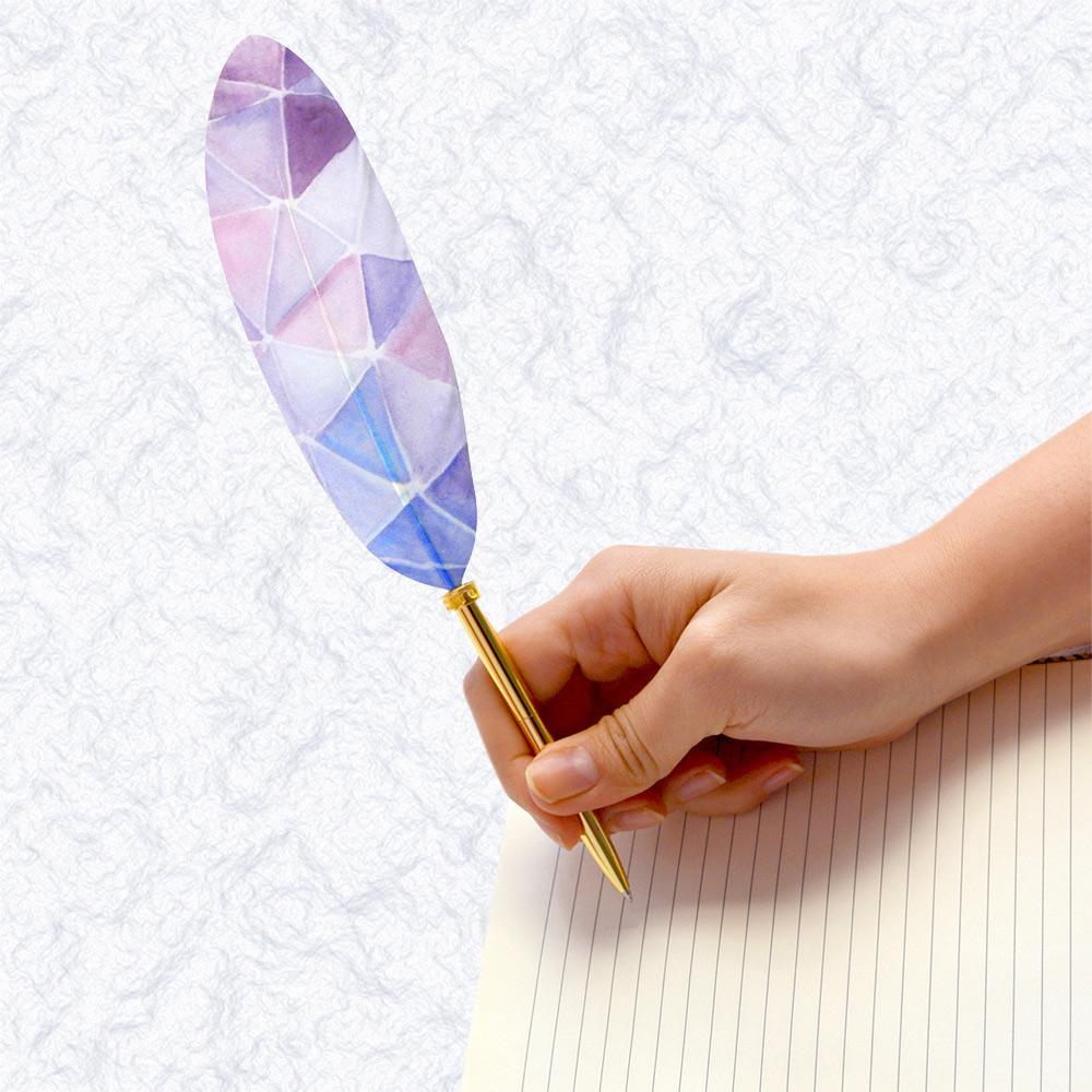 日本Quill Pen   羽毛原子筆WaterColor水墨系列 羽毛筆 原子筆
