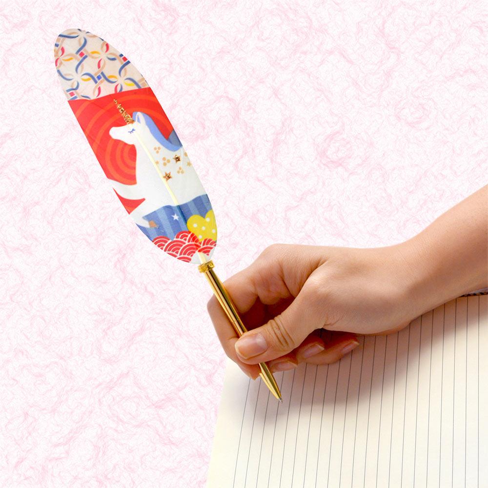 日本Quill Pen | 羽毛原子筆Japan和風祈福系列 羽毛筆 原子筆