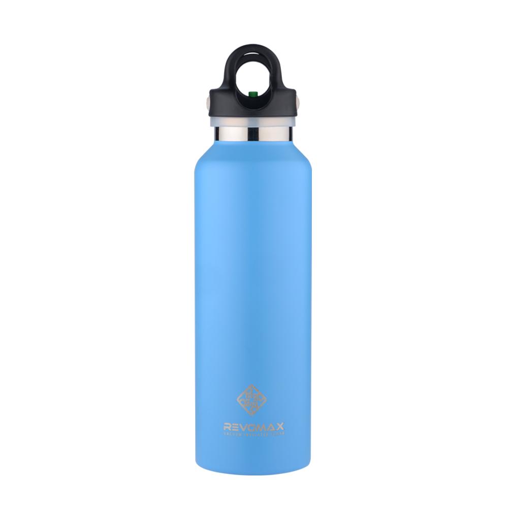 REVOMAX|316不鏽鋼保溫保冰秒開瓶592ML(天空藍)