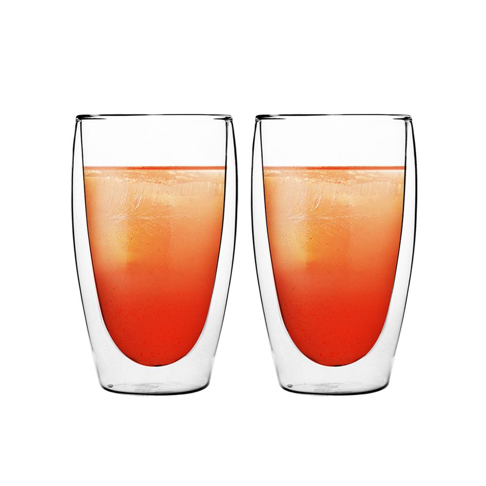 FUSHIMA 富島 經典系列雙層耐熱玻璃杯460ML*2入