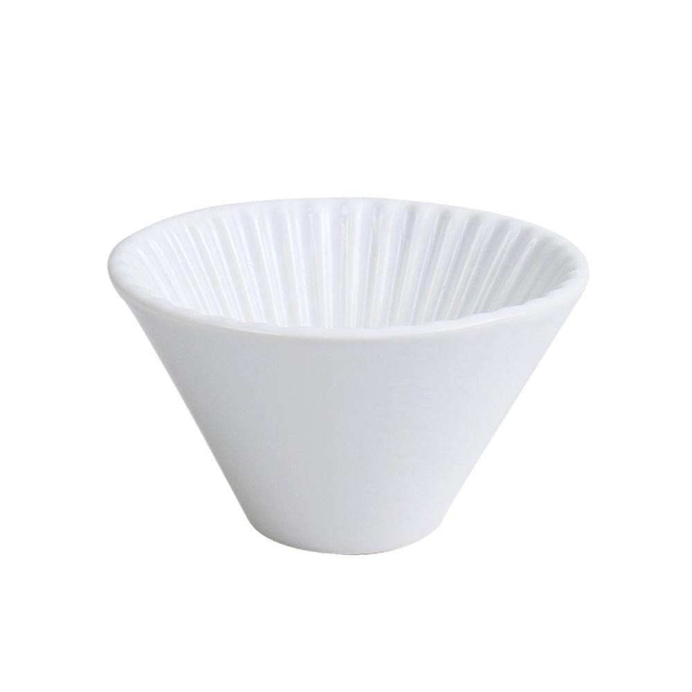 日本FUSHIMA富島|風雅陶瓷濾杯1~2人份(白色)
