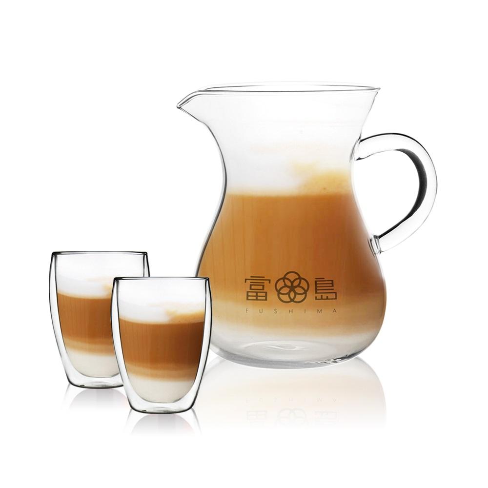 FUSHIMA 富島|日式風杯壺組(分享壺850ML+玻璃杯350ML*2)