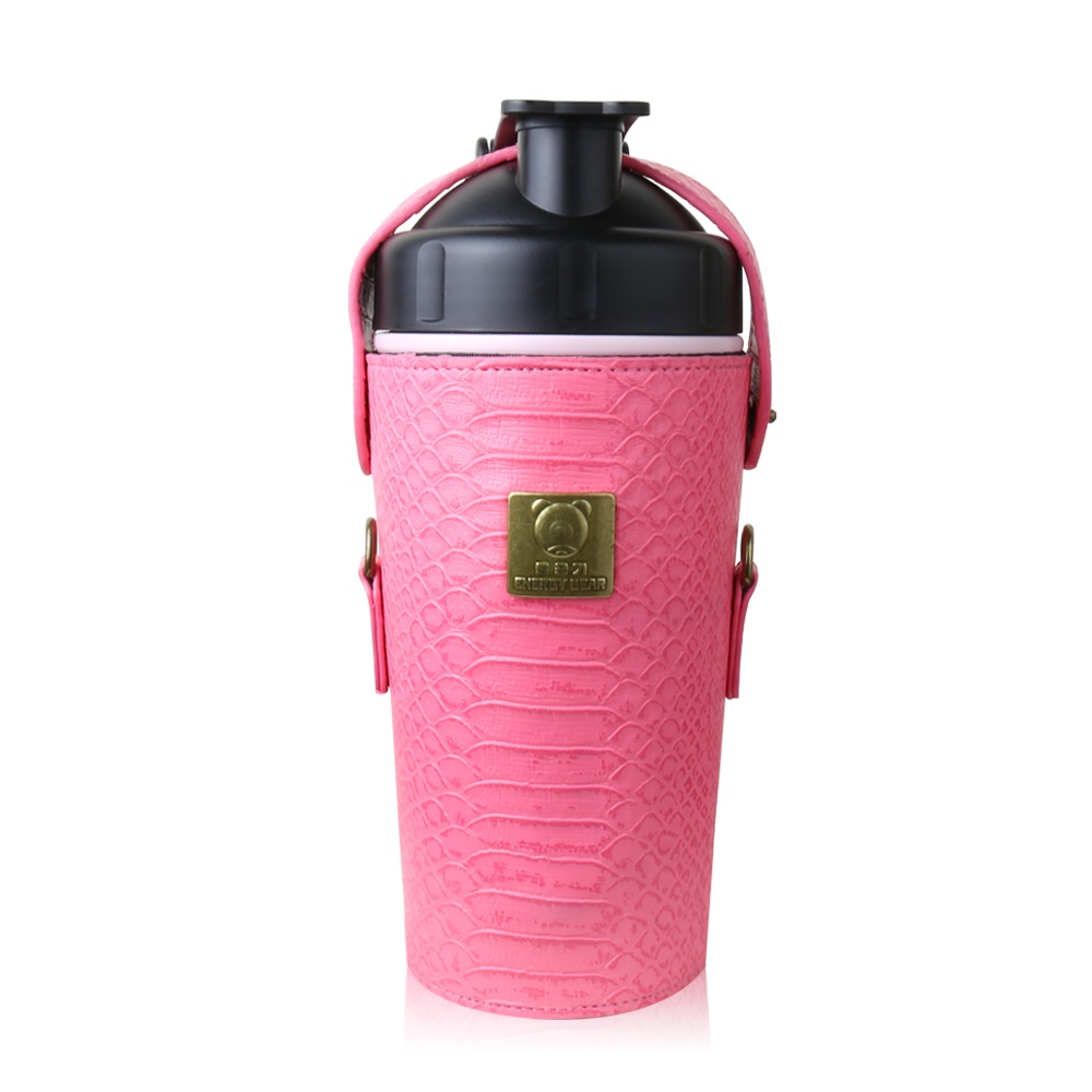 BEDDY BEAR|開芯能量可背式手提保溫保冷水壺600ML(粉色)