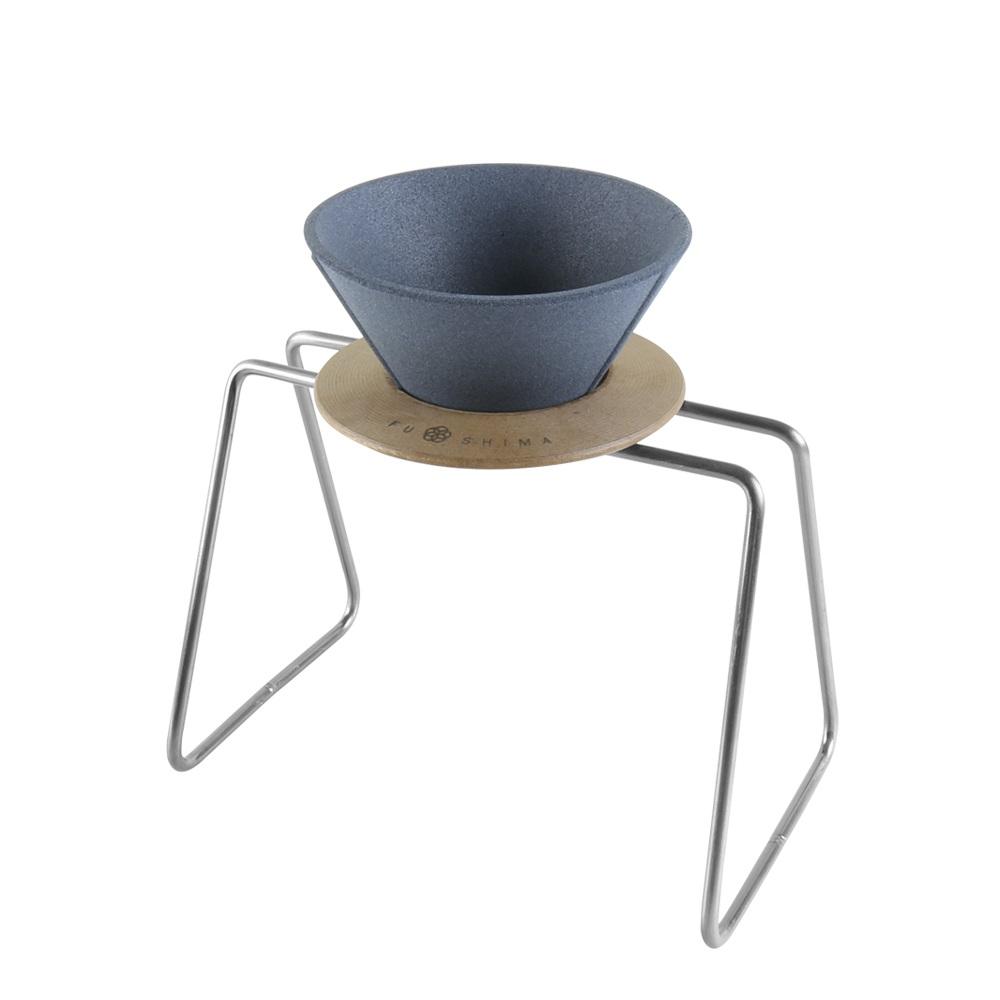 FUSHIMA 富島|精密陶瓷濾杯+木片+鐵架典雅組